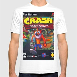 crashh bandicoot retro videogame cover T-shirt