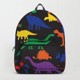 Dinosaurs - Black Backpack