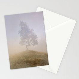 Loneliness at foggy dawn Stationery Cards