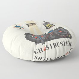 Ghostbusters movie poster, BIll Murray, Peter Venkman, Harold Ramis, proton pack, ghost trap Floor Pillow