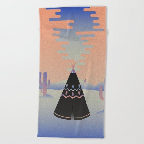 Tipi ritual Beach Towel