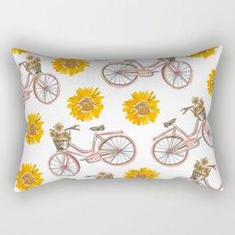 Sunflowers and Bikes! Rectangular Pillow