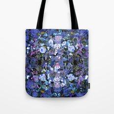 Blue Spot Floral Tote Bag