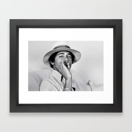 Young Barack Obama Smoking Weed Framed Art Print