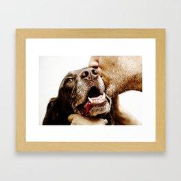 Matching Muzzles Framed Art Print