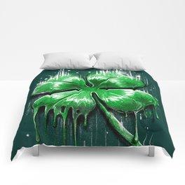 Four Leaf Clover Melting Luck Comforters