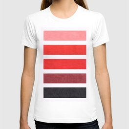 Colorful Red Geometric Pattern T-shirt