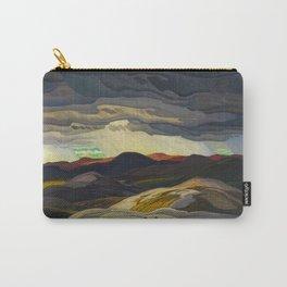 Canadian Landscape Oil Painting Franklin Carmichael Art Nouveau Post-Impressionism Snow Clouds Carry-All Pouch
