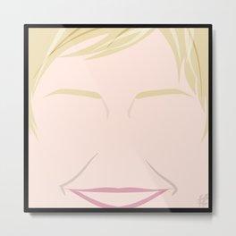 Ellen Degeneres – Square:icature™ Metal Print