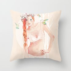 Colibrí Throw Pillow