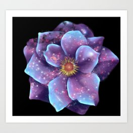 Galaxy in bloom Art Print