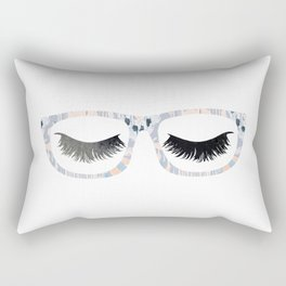 Glasses and Lashes (aka Nerdy and Flirty) Rectangular Pillow