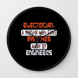 Engineer Electrician Watts Light Wall Clock