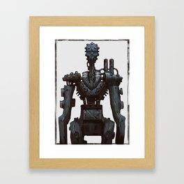 Cyber skull Robot  Framed Art Print