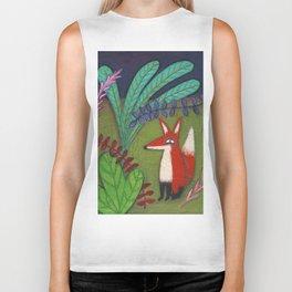 Fox in the Garden Biker Tank
