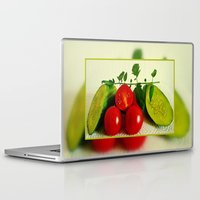 vegetables Laptop & iPad Skins featuring Juicy Vegetables by Art-Motiva