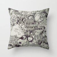 uncharted Throw Pillows featuring Uncharted Actuality by Lamb