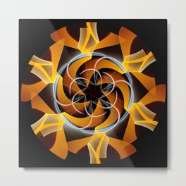 Sun dance, fractal abstract Metal Print