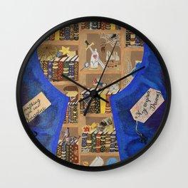 My Dream Library Wall Clock