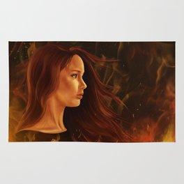 Girl in Flames Rug