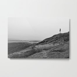 Standing on a Mountain Metal Print