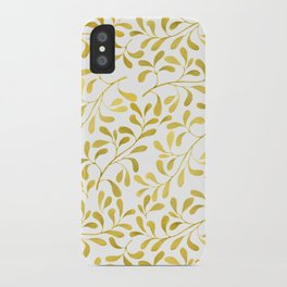 Golden Leaves iPhone Case