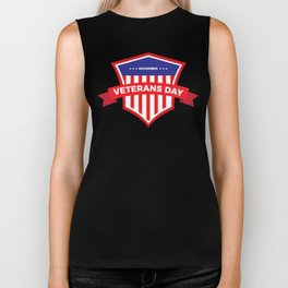 Veterans Day Commemorative Design Biker Tank