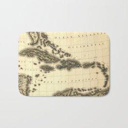 Vintage Map of The Caribbean (1806) Bath Mat