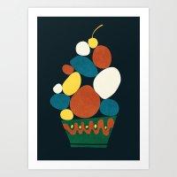dessert Art Prints featuring Dessert by Picomodi