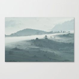 morning mist. Canvas Print