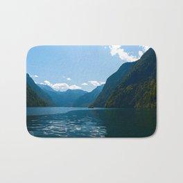 Koenigssee Lake with Alpes Bath Mat
