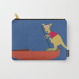 Kangaroo on Gondola Carry-All Pouch