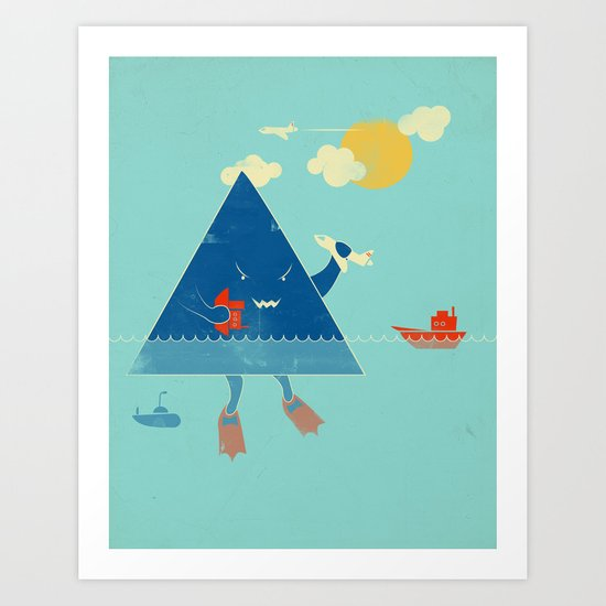 Bermuda Triangle Art Print