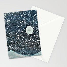 Moonlight Snow Stationery Cards