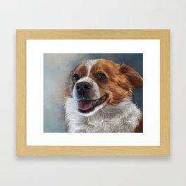 Cardigan Corgi Painting Portrait Framed Art Print