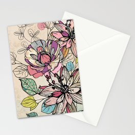 Paper Flowers #6 Stationery Cards