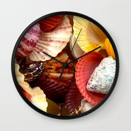 Shells at the Beach Wall Clock