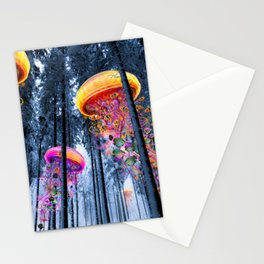 Winter Forest of Electric Jellyfish Worlds Stationery Cards