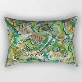Acrylic Painting - Abstract 6 Rectangular Pillow
