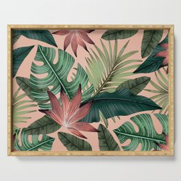 Tropical Monstera Swiss Cheese Plant Serving Tray