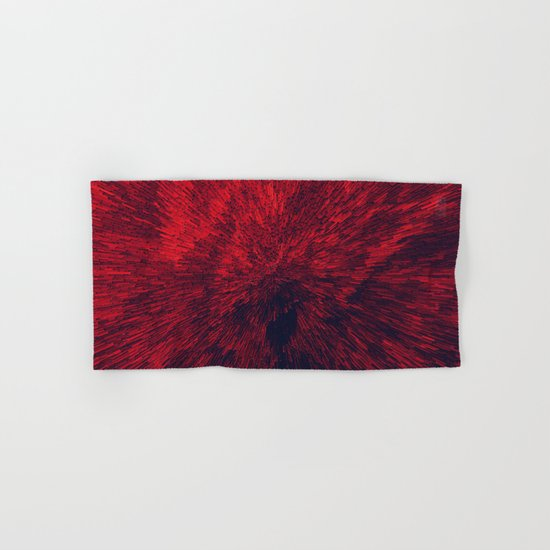 Bold Burst in Brilliant Red Hand & Bath Towel