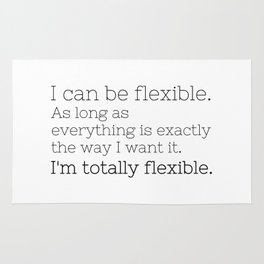 I'm totally flexible - GG Collection Rug