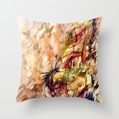 Autumnal Dialog Throw Pillow