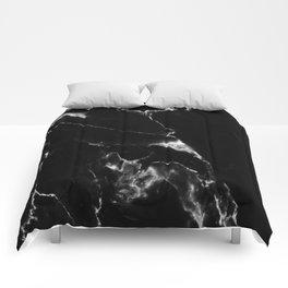 Black Marble I Comforters