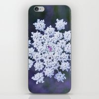 snowflake iPhone & iPod Skins featuring Snowflake by The Last Sparrow