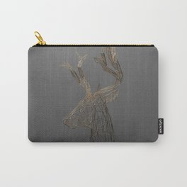 Golden Deer Wireframe Carry-All Pouch