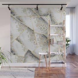 White Agate Gold Geometric Glam #1 #geo #gem #decor #art #society6 Wall Mural
