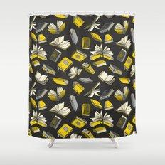 Spellbooks, Yellow Shower Curtain