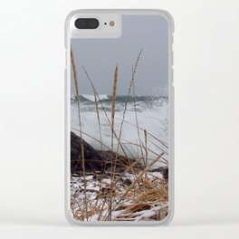 Winter Surf From a Frozen Sea Clear iPhone Case