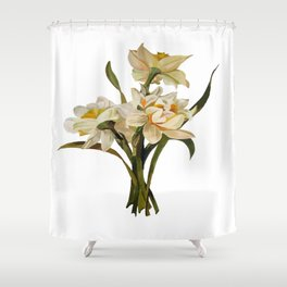 Double Narcissi Spring Flower Bouquet Shower Curtain